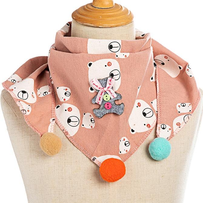 Весенние клетчатые треугольные шарфы в горошек для маленьких девочек; осенне-зимняя шаль для мальчиков и девочек; Детские хлопковые воротники; теплый детский шейный платок - Цвет: C6