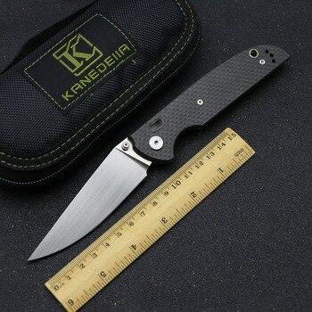 Kanedeiia Brand Dolphin folding Knife S35VN blade titanium carbon fiber handle camping pocket  Hunting Kitchen Knives EDC Tool цена 2017