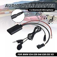 HD аудио передача музыки bluetooth 5,0 адаптер Aux кабель + микрофон для BMW E54 E39 E46 E38 E53 X5