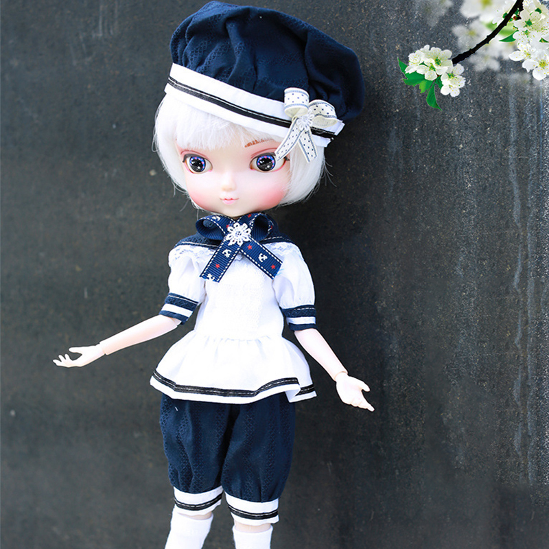 35cm BJD Doll 14 Movable Joints DIY 4 Color Bjd Dolls Make Up Doll Toy For Girl Birthday Gifts Change Eyes Hands Handmade Doll