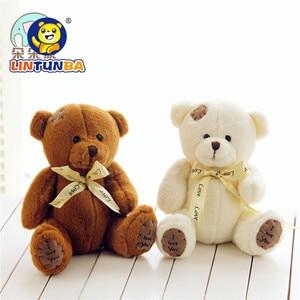 Image 3 - 1pc 15cm Patch Bear Dolls Teddy Bear Soft Toy Bear Wedding Gifts Baby Toy Birthday gift brinquedos Soft toys