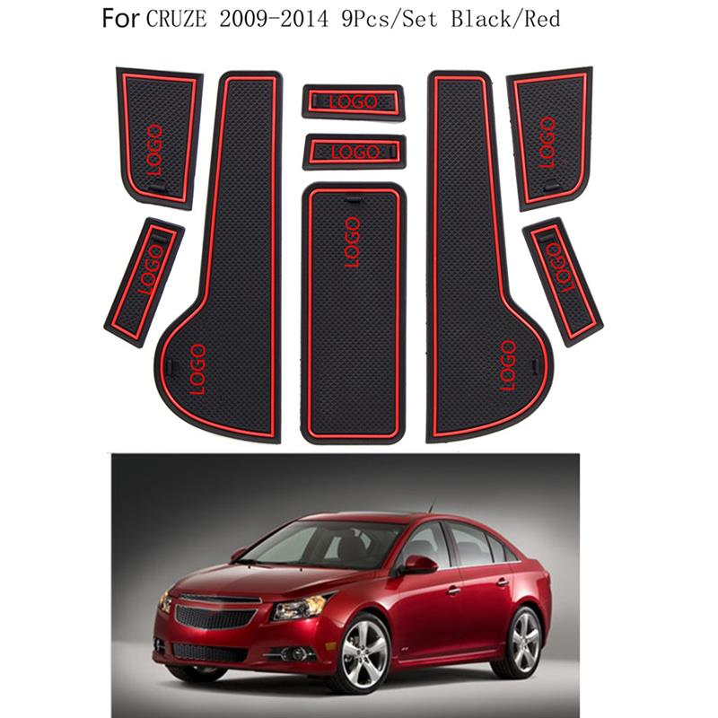 For <font><b>Chevrolet</b></font> <font><b>Cruze</b></font> <font><b>2009</b></font> <font><b>2014</b></font> 9pcs Per Set Car Door Groove Non Slip Pad Cup Holder Gate Slot Mat image