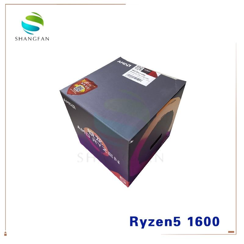 Novo AMD Ryzen 5 1600 R5 1600 3.2 GHz Six-Core Doze Fio YD1600BBM6IAE 65W Processador CPU Soquete AM4 com ventilador de refrigeração mais fresco