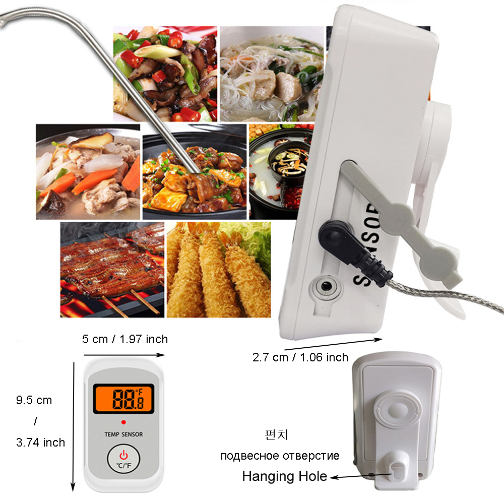 Digital Wireless Food Thermometer for Cooked Food and Grilled Meat with Timer and Temperature Alarm 18