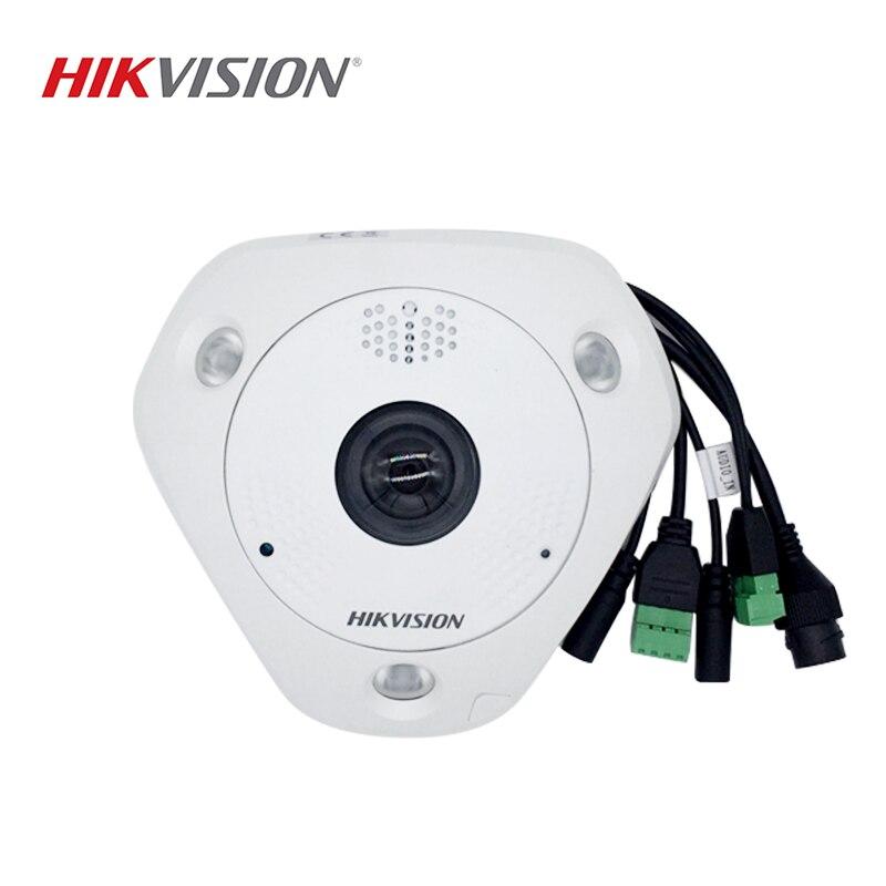 HIKVISION DS-2CD63C2F-IS Chinesische Version 12MP Fisheye Ansicht IP Kamera Unterstützt ONVIF SD Karte PoE IR 360 Grad Ansicht