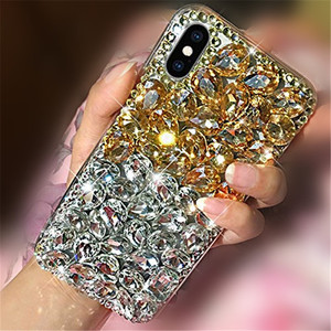 Image 5 - 電話ケースブリンブリンクリスタルダイヤモンドラインストーン3Dカラフルな石iphone 11 12ミニプロマックスxr × 7 8プラス6 6sプラス