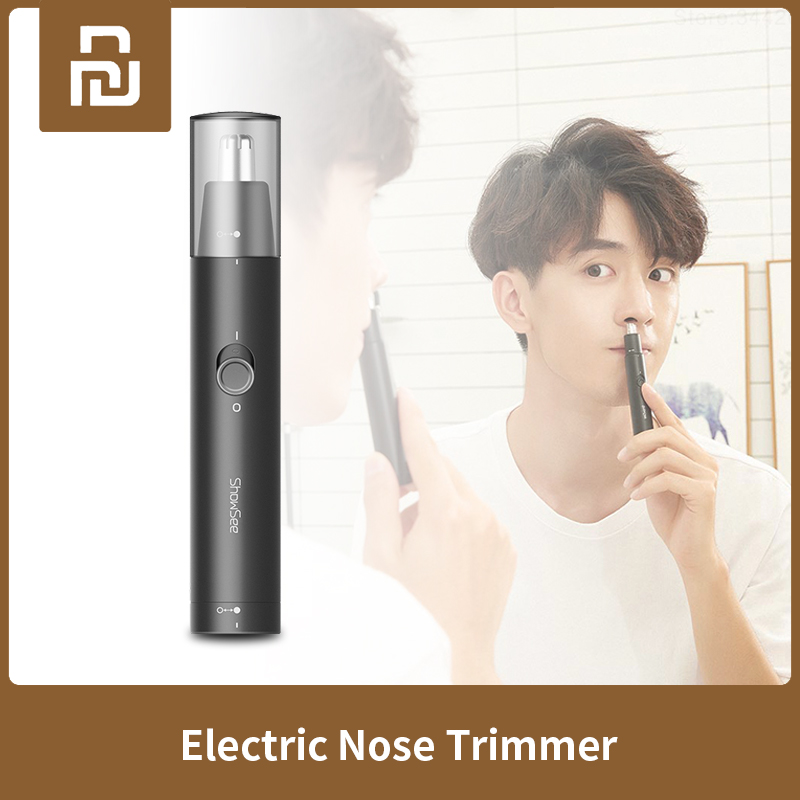 XIAOMI MIJIA SHOWSEE C1-BK Electric Nose Trimmers Portable Mini Ear Nose Hair Shaver Hair Clipper Waterproof Safe Removal Clean