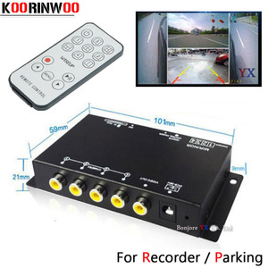 Image 1 - Koorinwoo Panoramic System DVR Box 4 Channels Available for Car Rear view Camera Video Front Side Rear Camera Parking Assistance