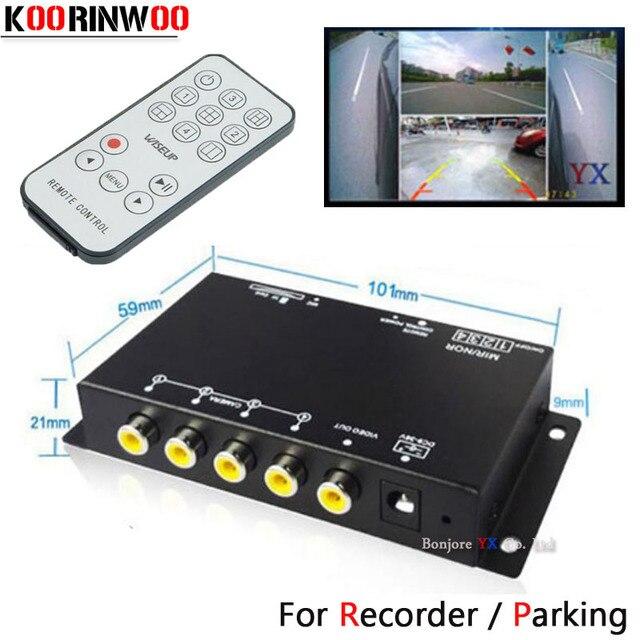 Koorinwoo Panoramisch Systeem Dvr Box 4 Kanalen Beschikbaar Voor Auto Achteruitrijcamera Video Front Side Rear Camera Parkeerhulp