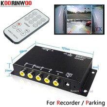 Koorinwoo sistema panorámico DVR, caja de 4 canales disponible para Vista trasera de coche, cámara de vídeo, cámara frontal y trasera, asistencia de estacionamiento