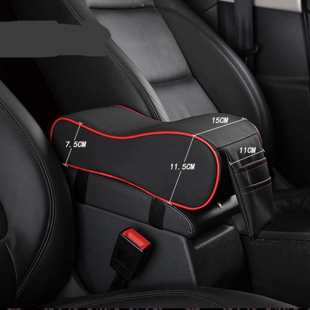 New leather car armrest pad car styling for Toyota Camry Corolla RAV4 Yaris Highlander/Land Cruiser/PRADO Vios Vitz/Reiz Prius 3