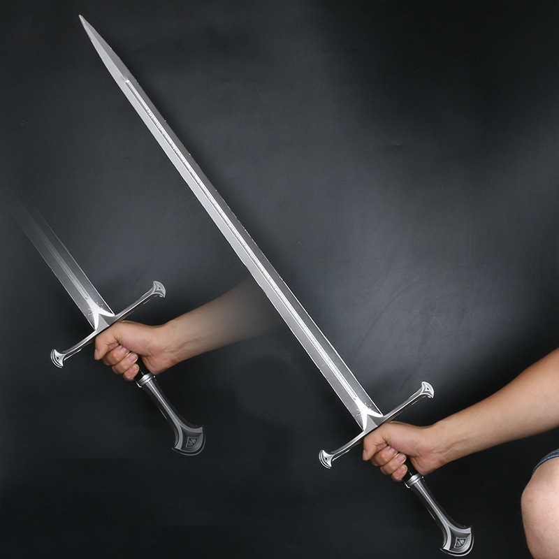 2020 New Foam Pu Weapon Prop The Movie Devil Hobbit Narthil Sword Cosplay Pu Knife Sword Stage Props Knight Weapon Toy For Teen