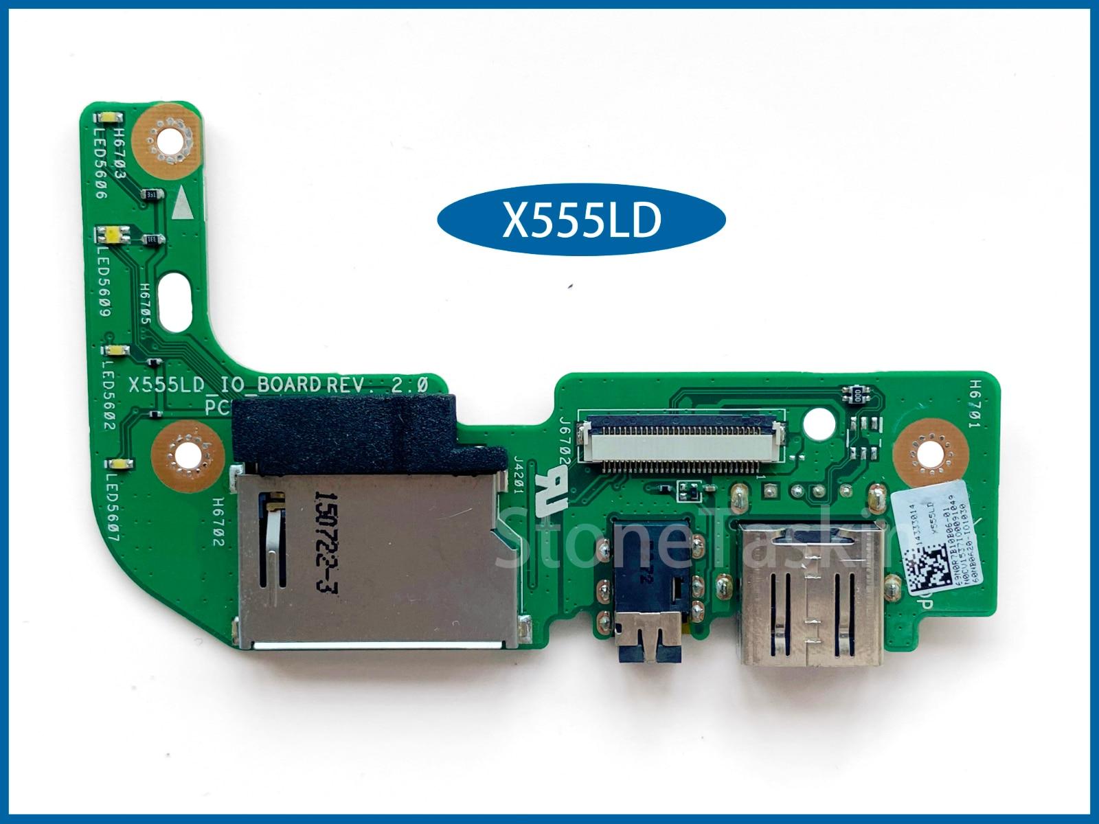 Оригинальная плата для ноутбука ASUS X555LD X555L X555LA K555L A555 F555L, USB-карта X555LD, IO-плата REV2.0 100%, протестирована
