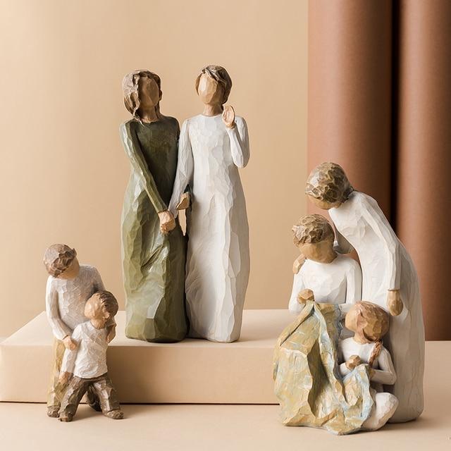 Nordic style resin figure decorati