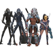 NECA Série Predator Alien vs Predador Machiko Noguchi Hornhead Predador Alienígena com Ovos PVC Action Figure Collectible Modelo(China)