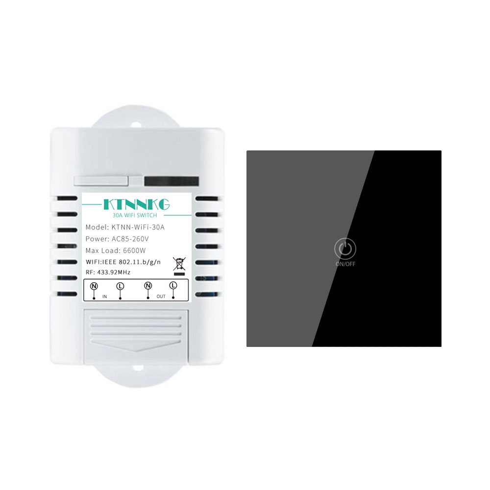 Smart Home EWeLinK APP 433Mhz 30A Universal Wireless WIFI Switch With Wall Mounted Remote Control For Pumps, High Power Devices