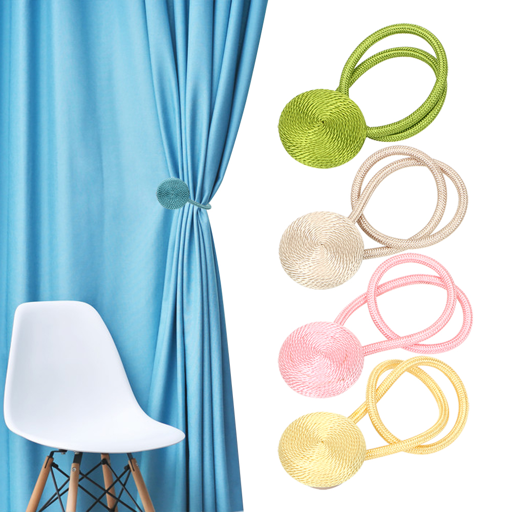 Permalink to Magnet Magnetic Braided Round Curtain Buckles Curtain Decorative Accessories Multi-Color Optional Curtains Tieback Europe Style