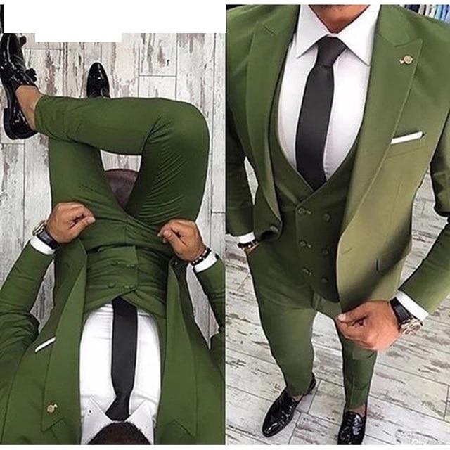 Men Suits Prom Tuxedo Slim Fit 3 Piece Groom Wedding Suits For Men Custom Blazer Terno Masuclino 4
