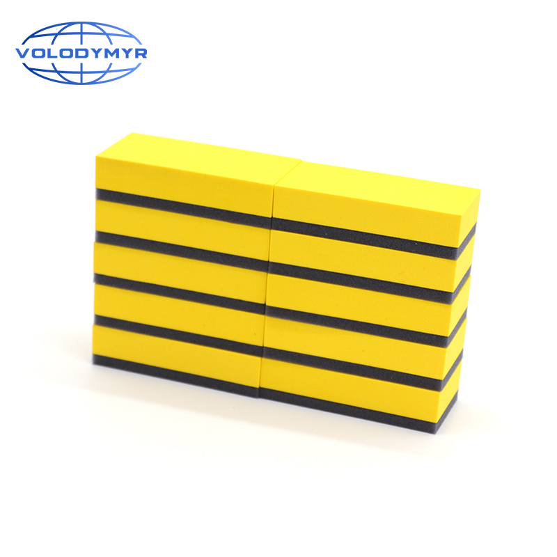 Ceramic Coating Sponge With Yellow EVA Handle 10pcs 8*4*2cm Applicator Pad For Car Care Auto Cleaning Detailing Waxing