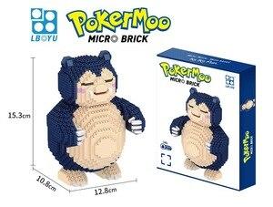 Image 4 - Figurine classique contes de fées marionnette Pino aventures micro diamant bloc de construction poupée en bois modèle jouets pour cadeau