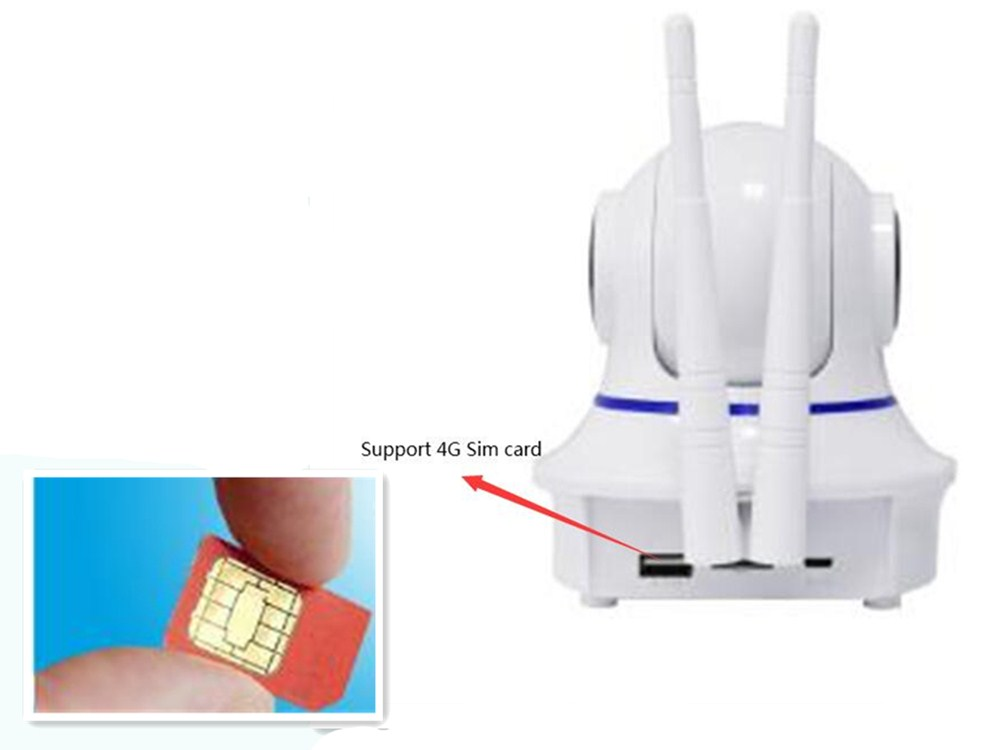 2MP 1080P P2P Wireless PTZ IP Camera Support 4G Sim Card