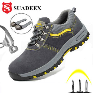 Image 1 - SUADEEX Steel Toe Cap Work Shoes Outdoor Construction Boots Male Female Puncture Proof Safety Shoes Industrial Working Sneakers