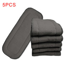 5 шт. коврик для мочи безопасный супер-абсорбирующий 5 слоев бамбукового угля многоразовая ткань детские подгузники чехол пеленка экологичная