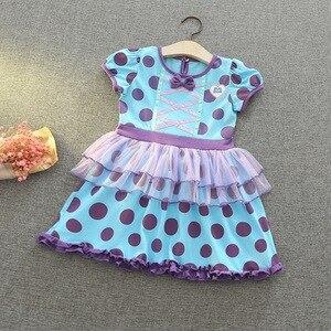 Image 2 - תינוקת קריקטורה שמלת שלגיה נסיכת סופיה קוספליי שמלת ילדה תינוק בגדי E5099