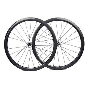 Image 2 - Disc brake full carbon wheels with Novatec D411SB D412SB straight pull hub disc carbon wheels 30mm 35mm 38mm 45mm 50mm 55mm 60mm