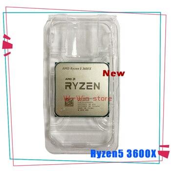 New AMD Ryzen 5 3600X R5 3600X 3.8 GHz Six-Core Twelve-Thread CPU Processor 7NM 95W L3=32M 100-000000022 Socket AM4 no fan 1