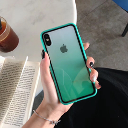 Luxury Transparent Gradient Phone Case For iPhone 11 Pro Max 8 7 6 6s Plus X XR XSMax Color Clear Soft Back Cover Funda Capa