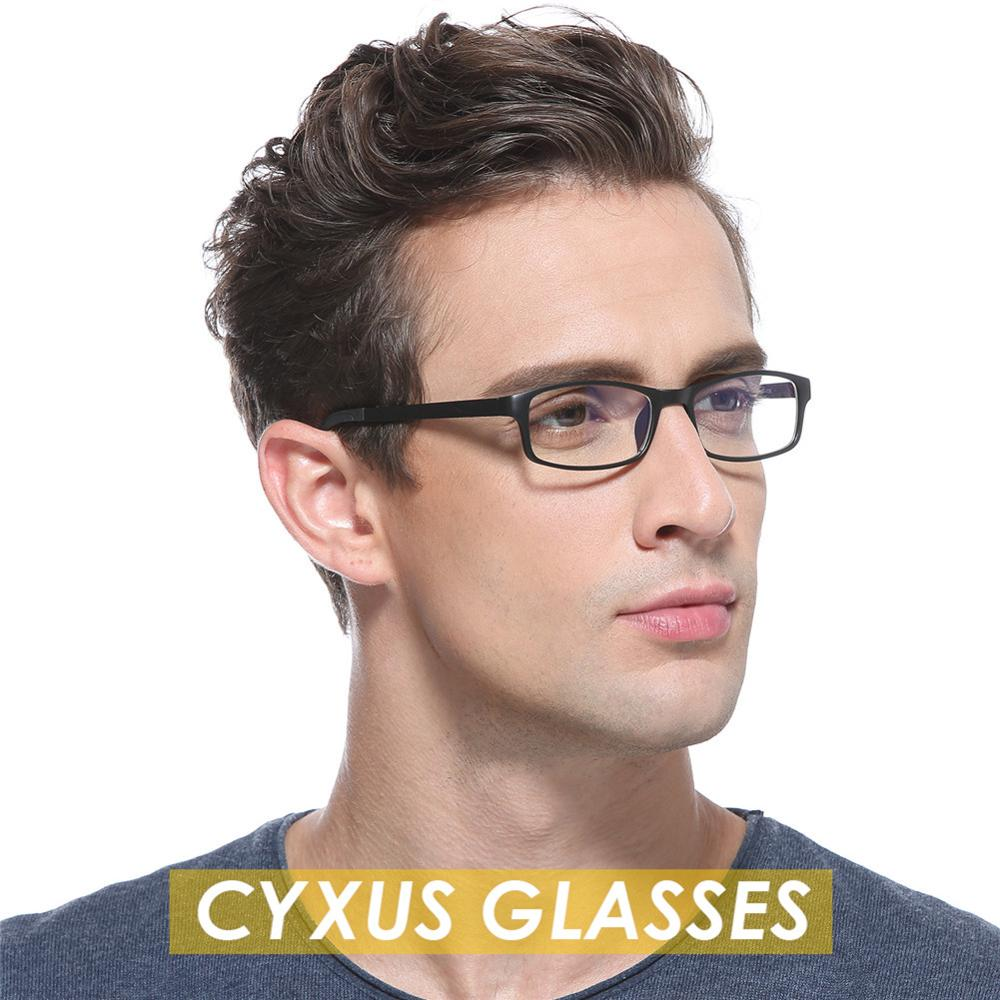Cyxus Fashion Glasses TR90 Rectangle Frame Clear Lenses Unisex Eyewear for Men/Wowen 8327