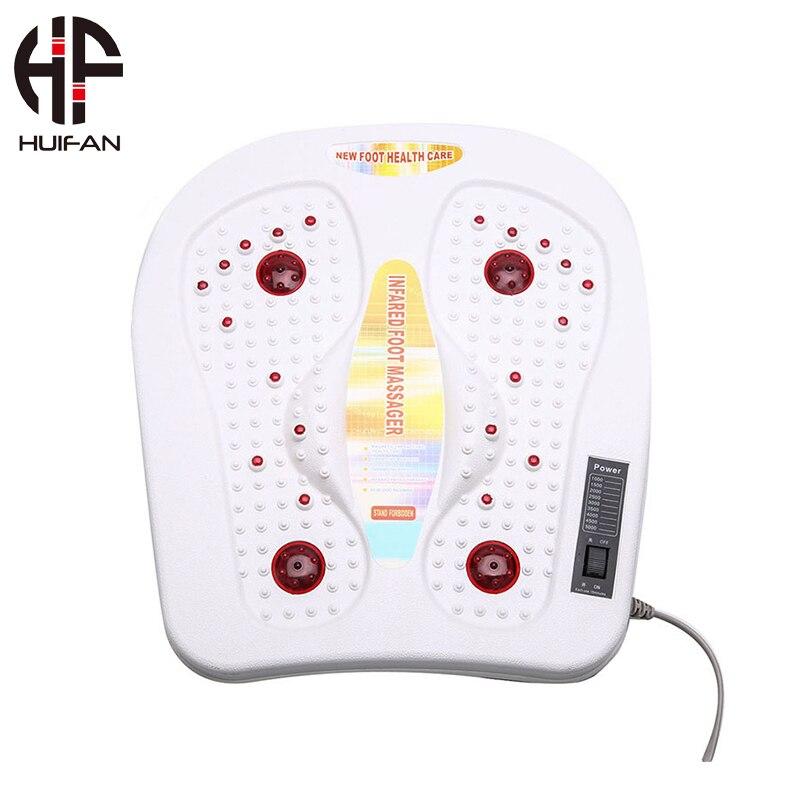 HUIFAN Shiatsu masażer elektryczny do stóp z ciepłem, terapia głębokiego ugniatania, kompresja powietrza, łagodzi ból stóp