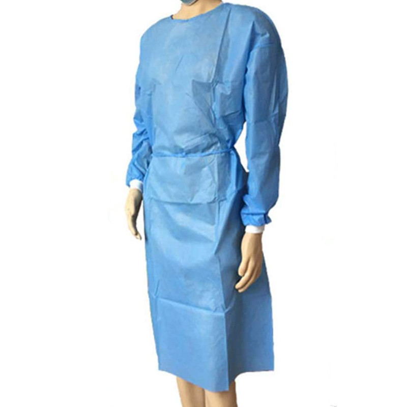 Surgical Isolation Gown Disposable  Protective Clothing Universal With Button Design Safety Dustproof Waterproof  Free Size