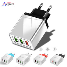 Universal 18W USB Charger Quick charge 3.0 5V 3A Charge For iphone 7 8 EU US Plug Mobile Phone Fast charger charging for Samsung