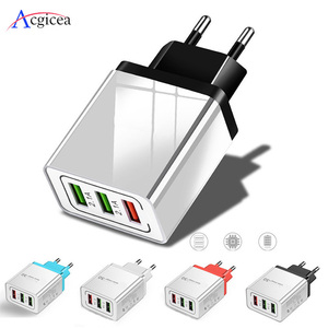 Image 1 - Universal 18W USB Charger Quick charge 3.0 5V 3A Charge For iphone 7 8 EU US Plug Mobile Phone Fast charger charging for Samsung