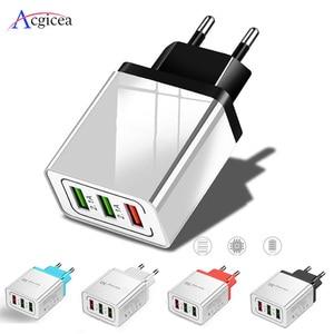 Image 1 - Đa Năng 18W USB Quick Charge 3.0 5V 3A Sạc Cho iPhone 7 8 EU Mỹ Cắm Di Động điện Thoại Sạc Bộ Sạc Nhanh Dành Cho Samsung