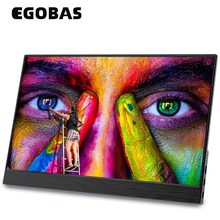 Egobas 17.3 tela grande monitor portátil ultrafinos corpo de metal 1080p hdr lcd ips para o telefone portátil interruptor xbox ps4 gaming monitor