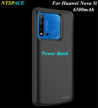 NTSPACE Power Bank Charging Cover Cases For Huawei Nova 5i Portable Power Bank Cases 6500mAh External Battery Power Charger Case