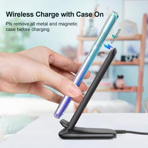Image 3 - CHOETECH Wireless Charging 15W Qi Stand for iPhone 12 Pro X XS 8 Fast Wireless Charging Station for Samsung S10 S9 Phone Charger