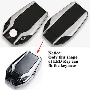 Image 3 - SEEYULE coque de clé TPU écran LED de voiture, accessoires pour BMW 5, 6, 7, G11, G12, G30, G31, G32, i8, I12, I15, X3, G01, X4, G02, X5, G05, X7, G07