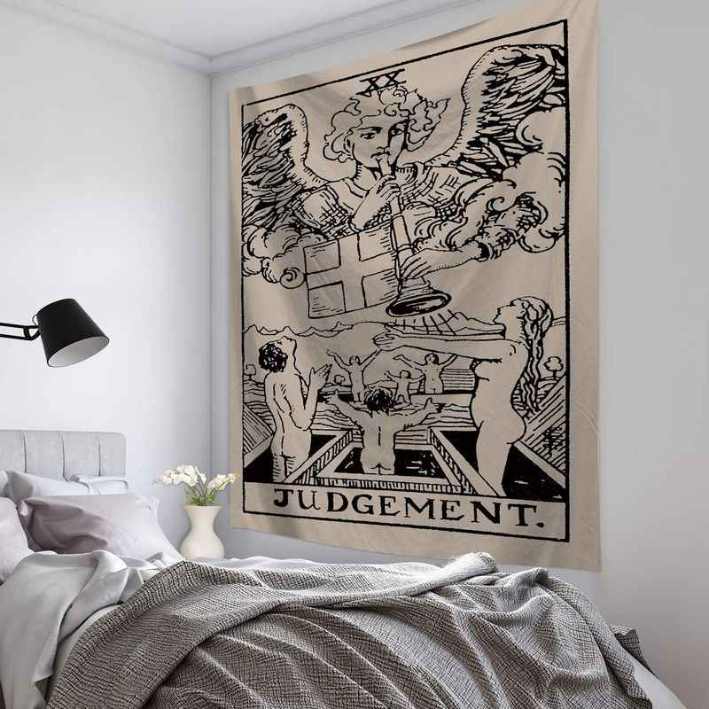 1 Uds. Tarot tarjeta tapiz colgante de pared astrología divinación colcha playa estera manta pared arte tapicería de decoración para el hogar 95*73cm