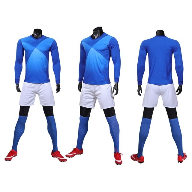 HOWE AO men's long-sleeved football jersey suit football jersey training suit long-sleeved custom name and number logo