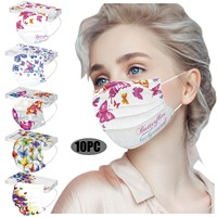 Headband 10PCS Disposable mask masque mascherine Unisex Printed Butterfly Soft Masks For Adults 3-Layer Mask mascarilas бандана#