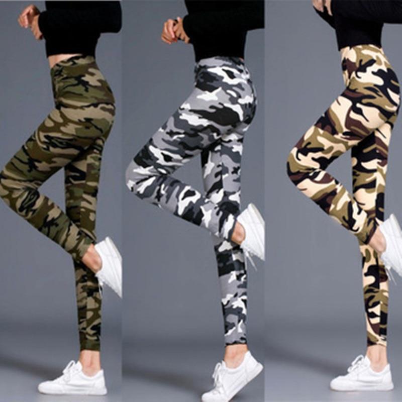 2020 New Very Comfortable Milk Silk Women Leggings Camouflage Military Style Printed European And American Fashion Elastic Pants|Leggings| - AliExpress