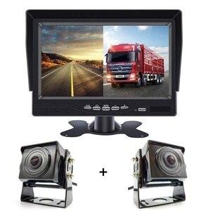 2020 обновленный Автомобильный видеорегистратор, 7 дюймов HD 1024x600P IPS экран AHD автомобильный монитор с 2 каналами для грузовика, автобуса, парков...