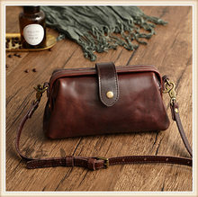 Top Quality Pure Cowhide Women Bag Handmade Genuine Leather Shoulder Bags for Woman Crossbody Bags Female Doctor Bag Bolsas