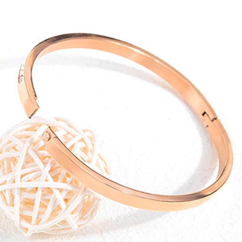 Korean hot style bracelet leaf rose gold titanium steel bracelet jewelry watch accessories bracelet