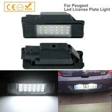 2x LED para placa de matrícula de luz para Peugeot 207 Peugeot 308 Citroen Berlingo C2 C3 Pluriel Baujahr 2004 - 2009 C4 C5 limusina C6 DS3