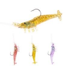 2019 new road lure 3pcs/lot size 10g/8.5cm with lead head hook transparent shrimp Yamino fishing bait